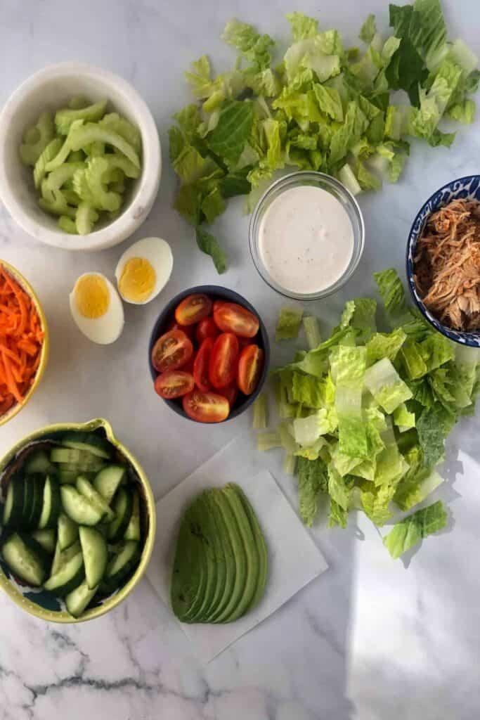 buffalo salad prep