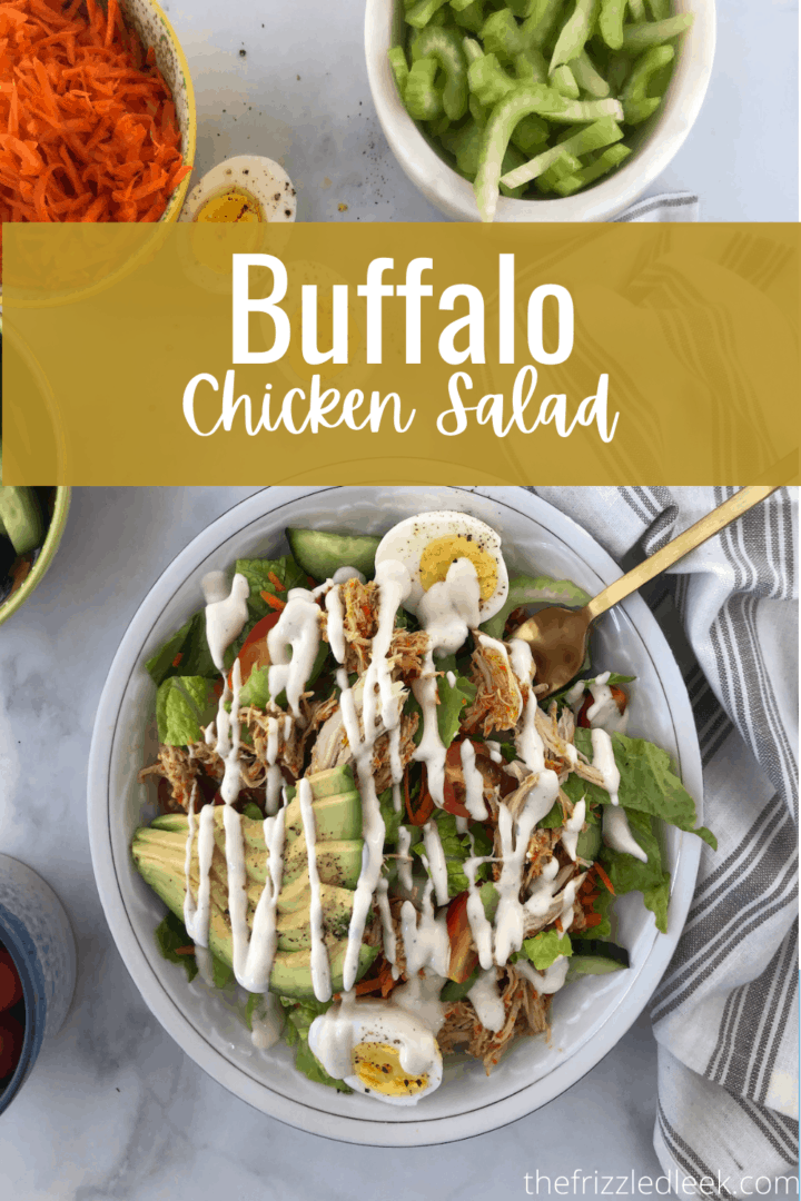 Buffalo Chicken Salad in a Bowl