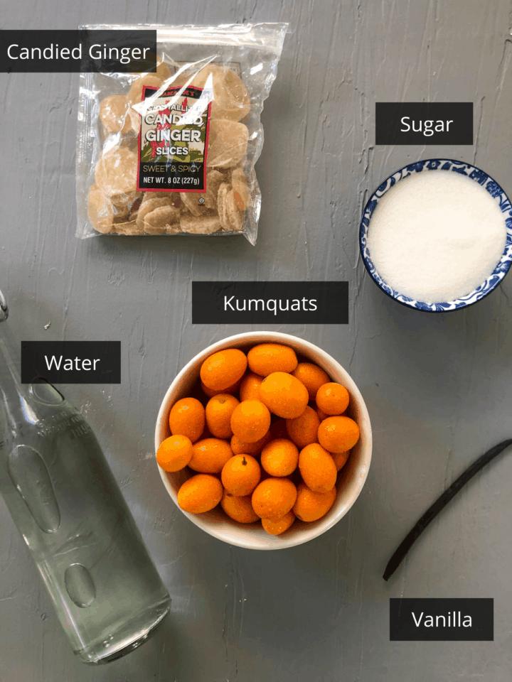 candied kumquat ingredients