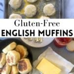 English muffins with jam and butter