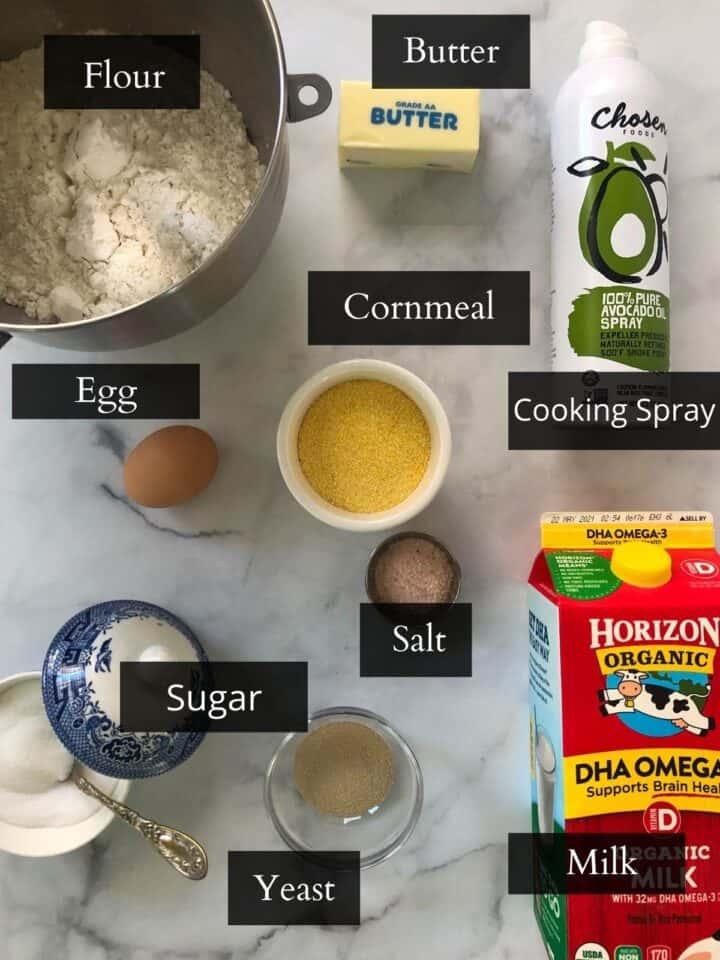 Gluten-free English muffin ingredients