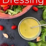 dressing with salad