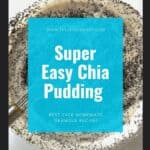 mixing chia pudding in a large bowl