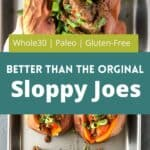 sloppy joe's stuffed sweet potatoes