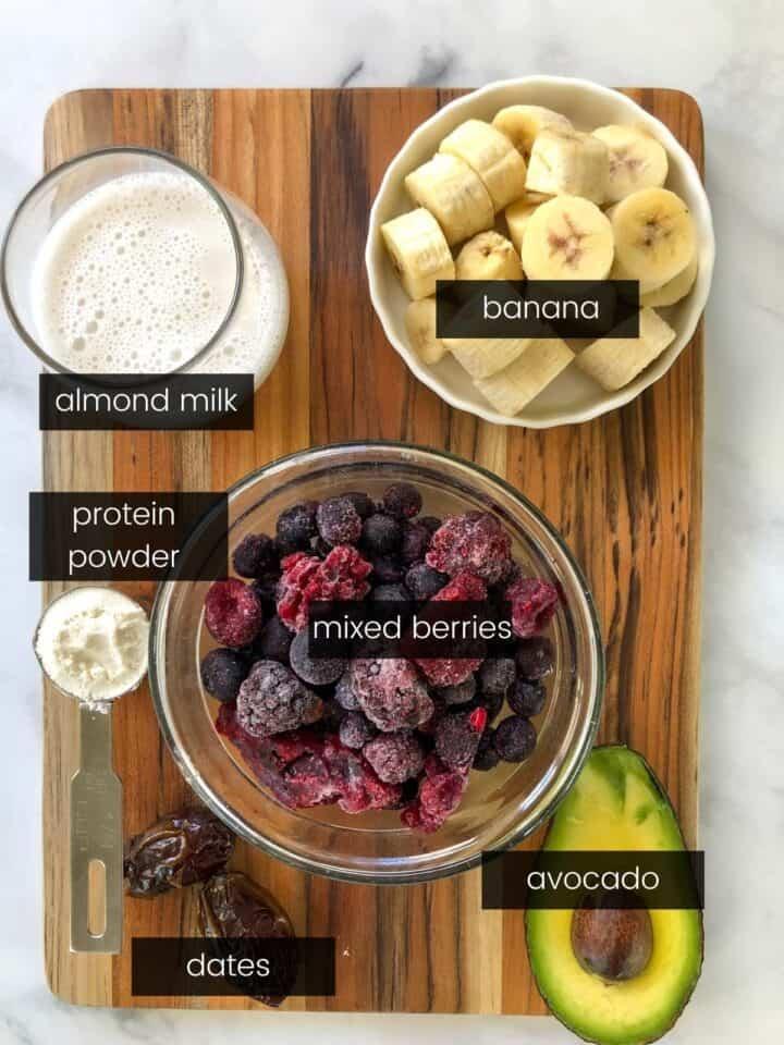 best smoothie bowl recipe ingredients