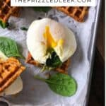 sweet potato waffle sandwich with soft cooked egg