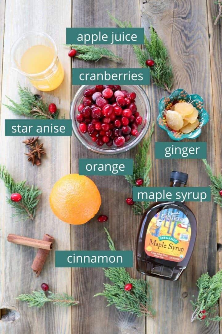 Quick homemade cranberry sauce ingredients