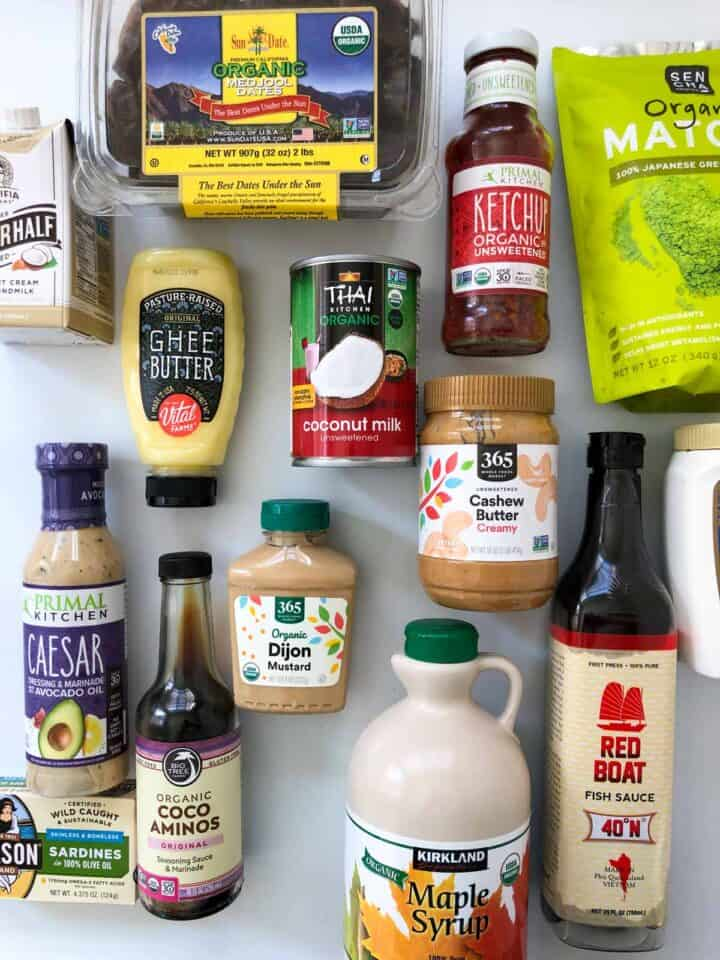 my healthy pantry essentials that I keep in my kitchen