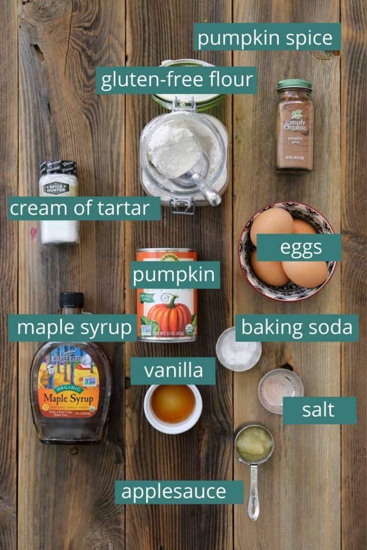 healthy pumpkin muffin ingredients