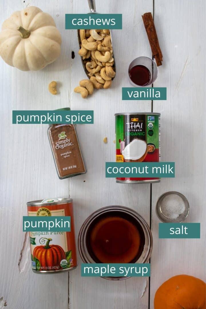 homemade creamy pumpkin ice cream ingredients